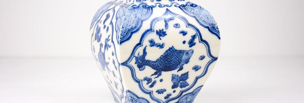 """No.96 """"Four fish"""" - Square vase"""