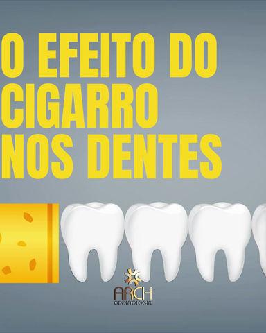 O efeito do cigarro nos dentes