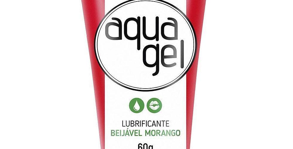 Aqua Gel Lubrificante - Beijável Morango