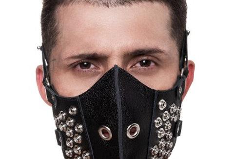 Máscara 100% Couro