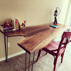 Live Edge Claro Walnut Desk