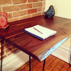 Partial Live Edge Desk