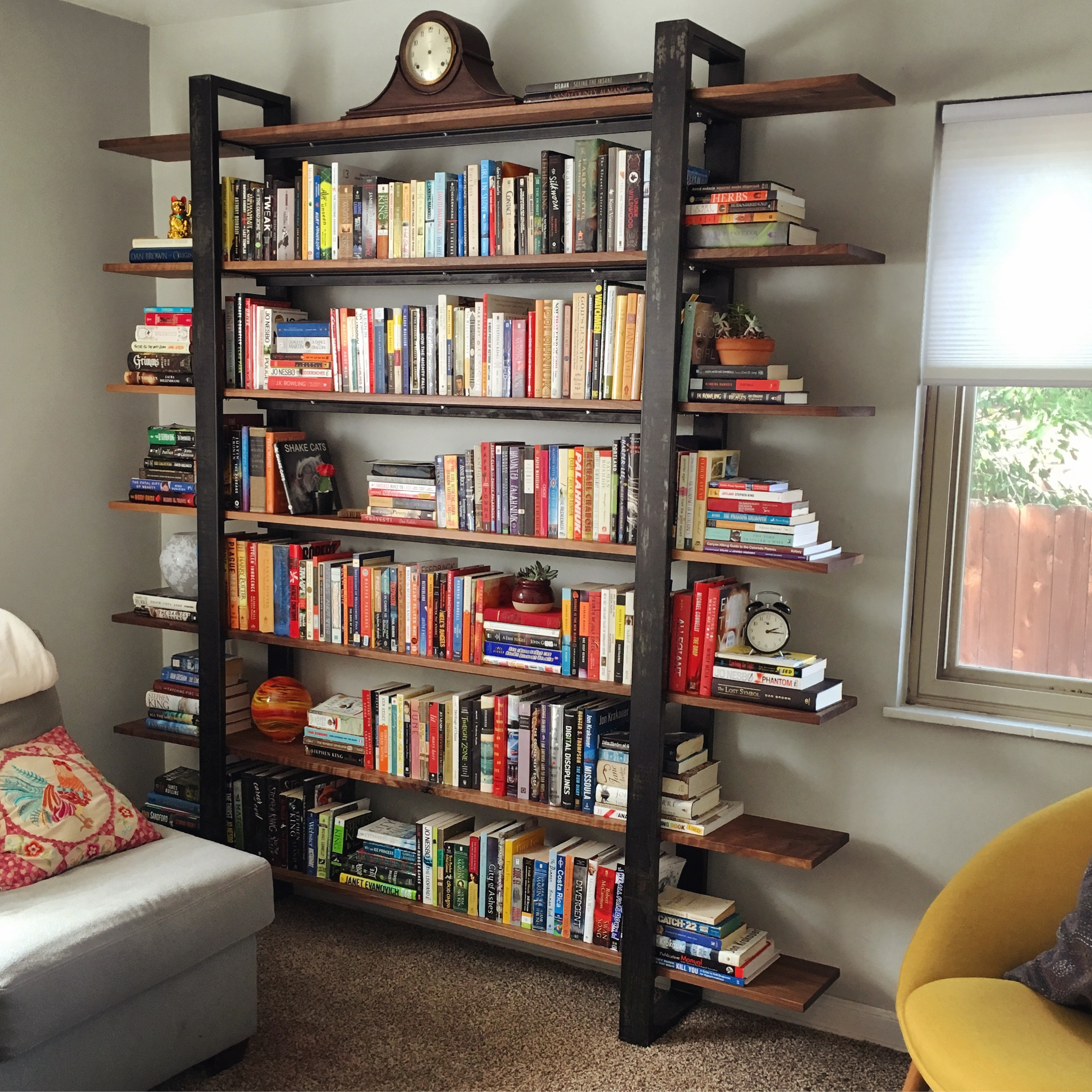 7-Tier Walnut Bookcase