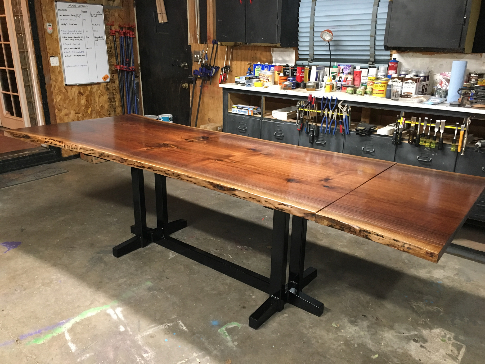 Live Edge Walnut Extension Table