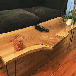 Live Edge Elm Coffee Table