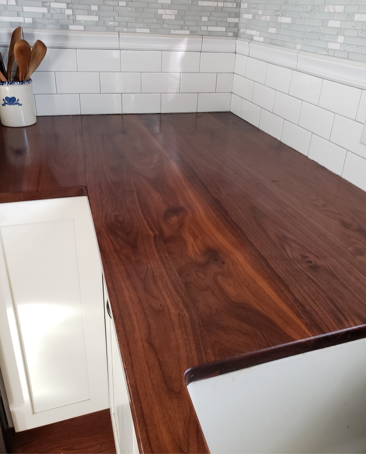 Custom Walnut Countertop