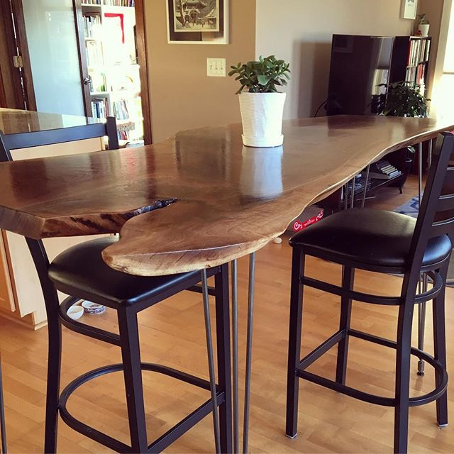 Live Edge Bar Height Dining Table