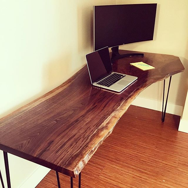 Spalted Live Edge Walnut Desk