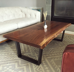 Curly Walnut Cocktail Table