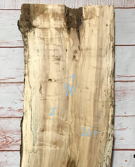Live Edge Spalted Maple