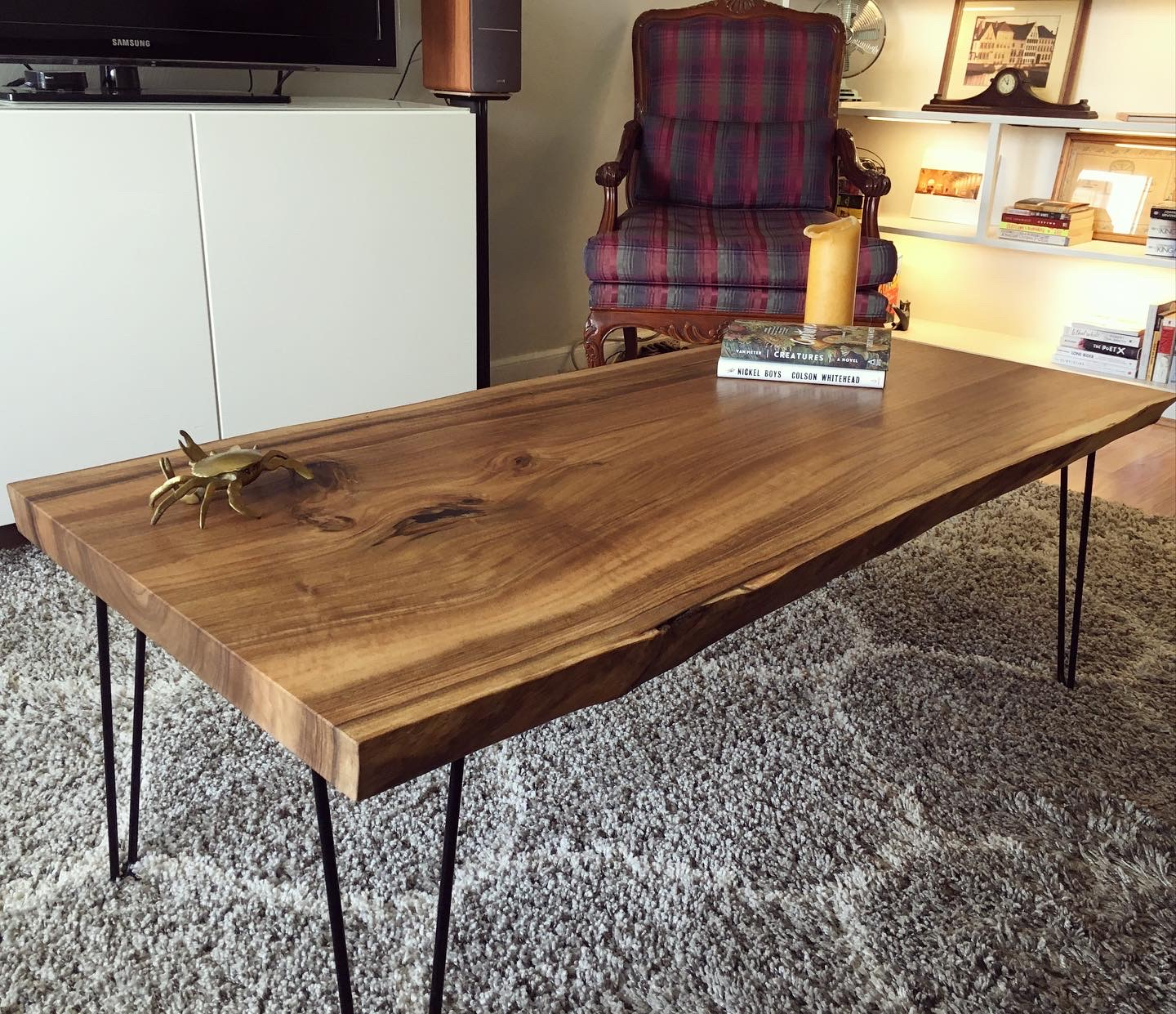 Live Edge English Walnut Coffee Table