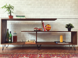 Black Walnut Media Console