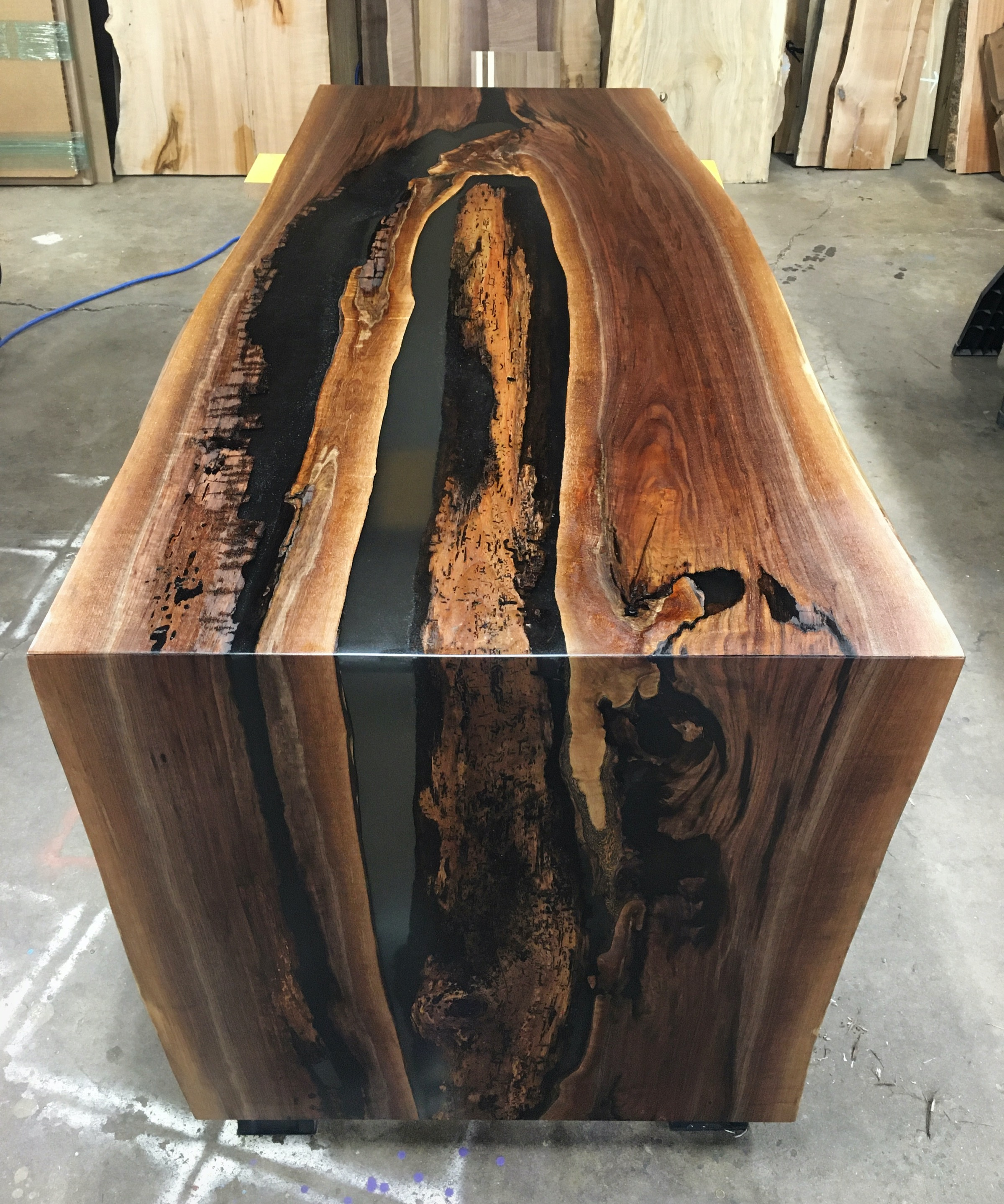 Walnut Waterfall River Desk