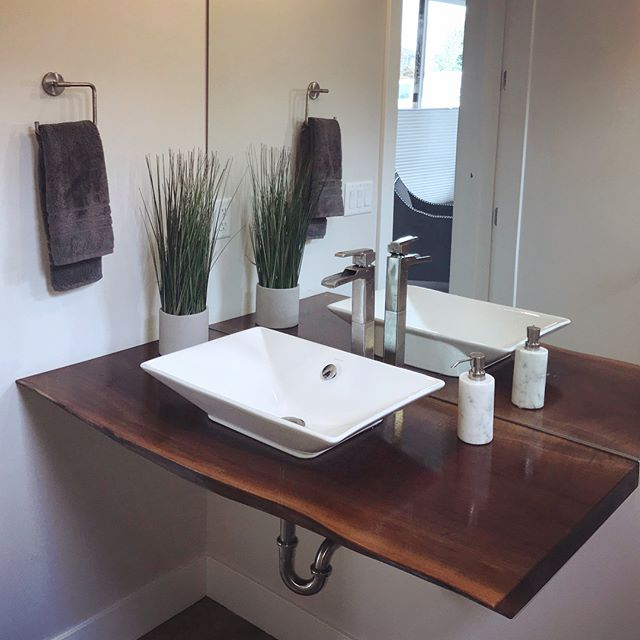 Live Edge Bathroom Vanity