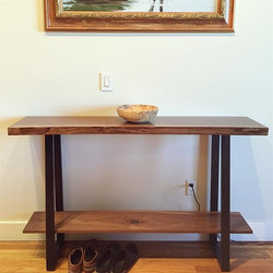 Live Edge Console w/ Shelf