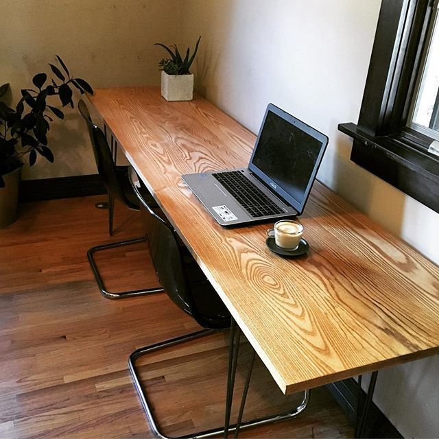 8-Foot White Ash Desk