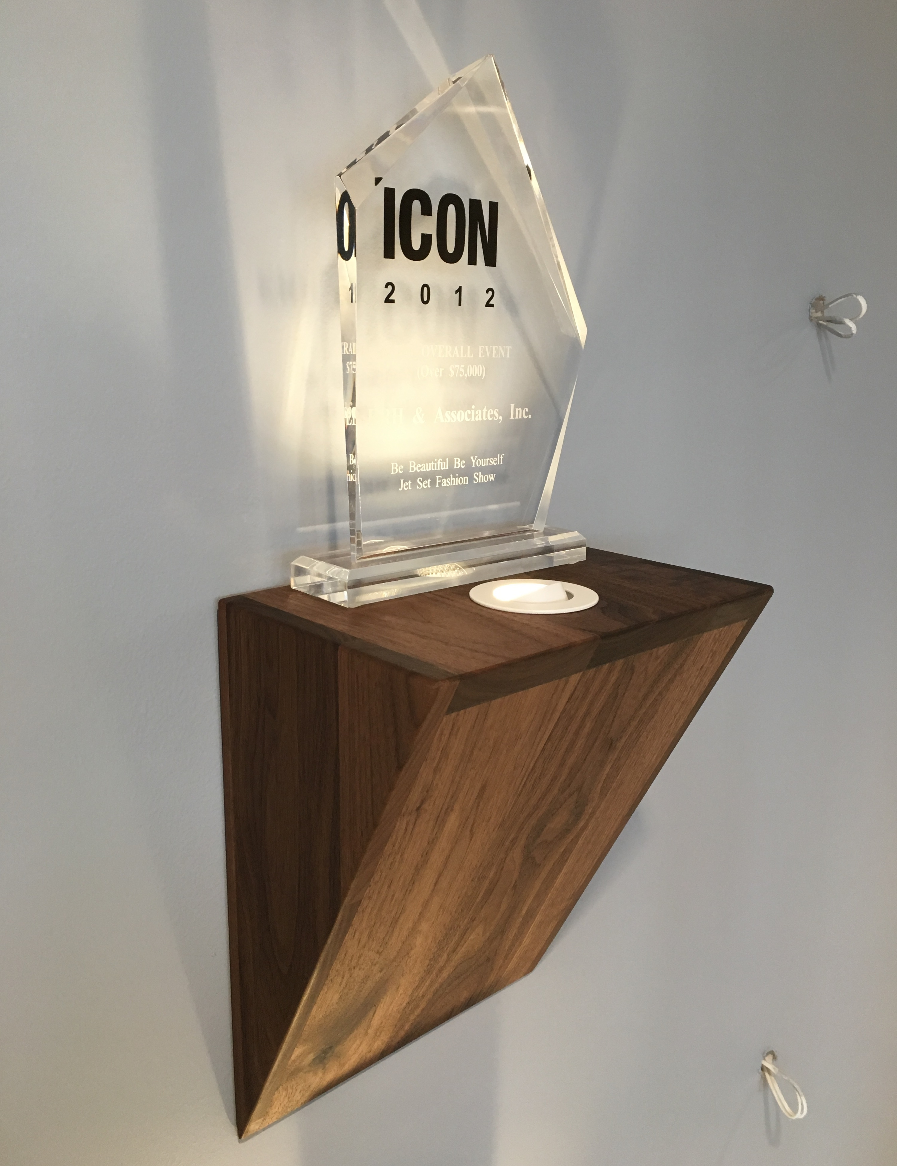 Walnut Award Display
