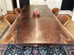 Live Edge Bookmatched Extension Table