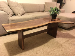 Live Edge Trestle Coffee Table
