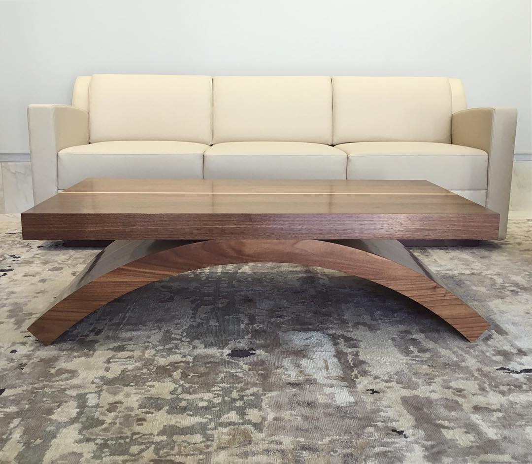Solid Walnut Arch Cocktail Table