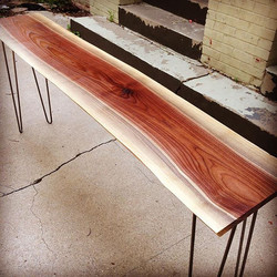 Live Edge Entryway Table