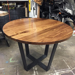 "42"" Round Walnut Kitchen Table"