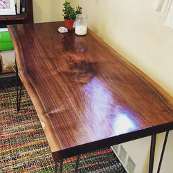 Custom Live Edge Claro Walnut Desk