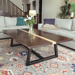 Bookmatched Walnut Coffee Table
