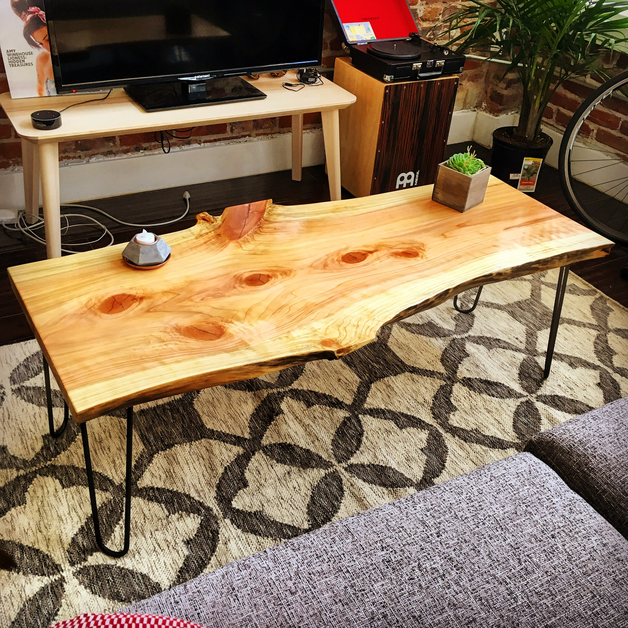Live Edge Redwood Coffee Table