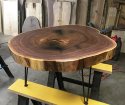Walnut Slice Coffee Table
