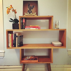 Midcentury Cherry Bookcase