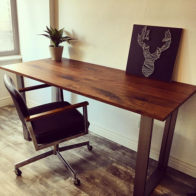 Mid Century Black Walnut Desk