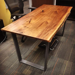 Desk from Repurposed Farm Wood