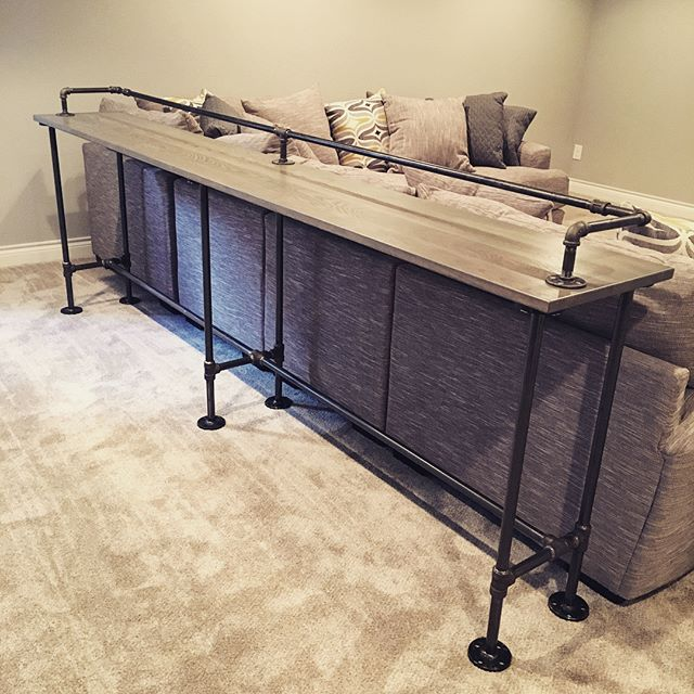 Industrial Weathered Ash Sofa Table