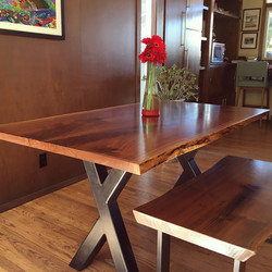 Live Edge Bookmatched Dining Table
