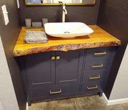 Live Edge Maple Sink Vanity