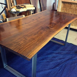 Bookmatched Live Edge Dining Table
