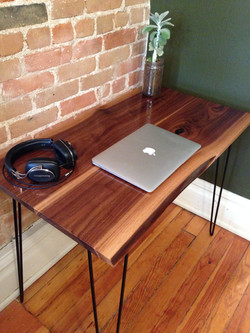 Live Edge Desk w/ Hairpin