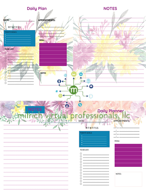 Floral Daily Planner