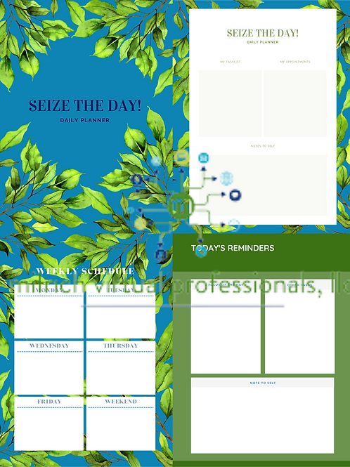 Seize The Day! Daily Planner