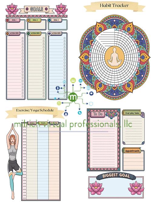Yoga Themed Planner
