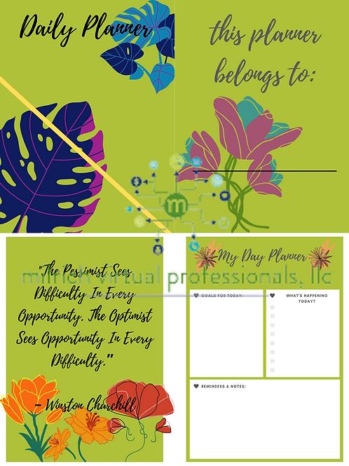 Daily Planner - Flower Theme