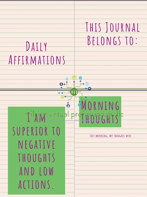 Minimalist Affirmations Journal