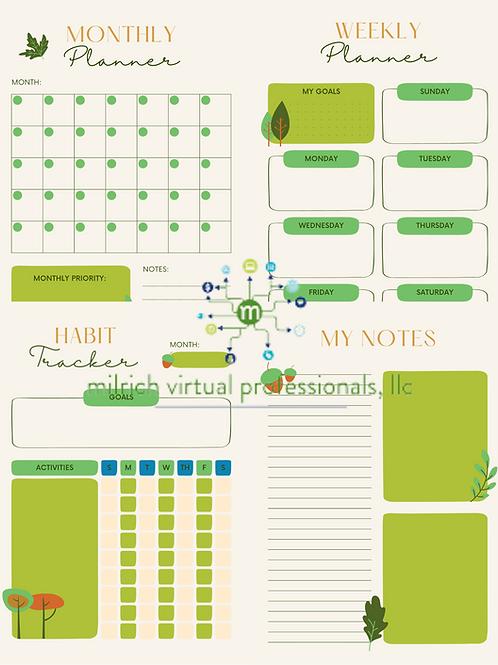 Green Leaf Planner