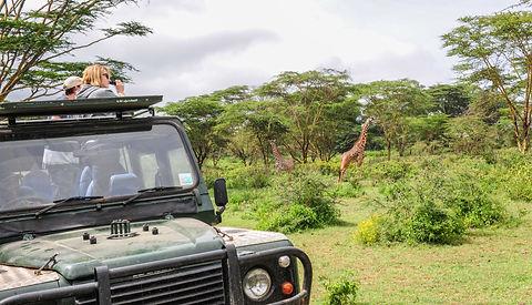 Landrover rental car Lake Naivasha