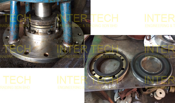 Geppert Ruhrtechnik Mixer - Mechanical Seal (Before Repair)