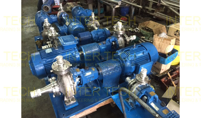 KSB Megachem Centrifugal End Suction Process Pumps Retrofit