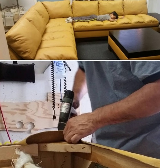 Reupholstery leather sec