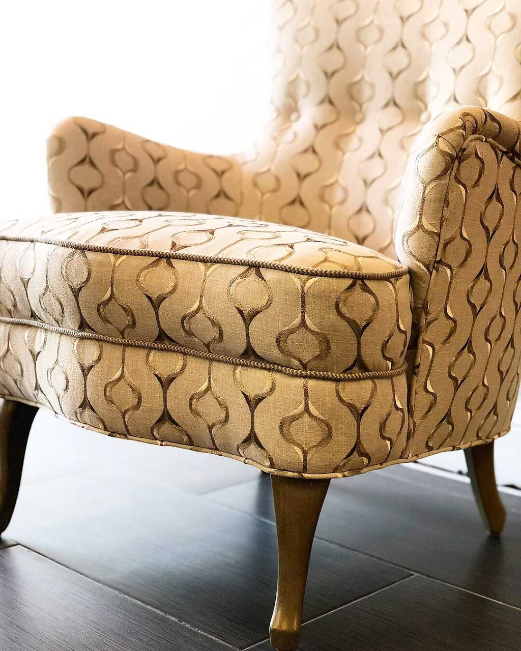 Reupholstery Chair and refinish