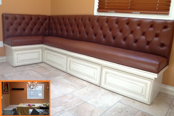 Banquette Before & After